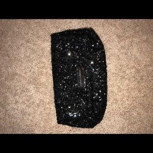 Black sparkle clutch